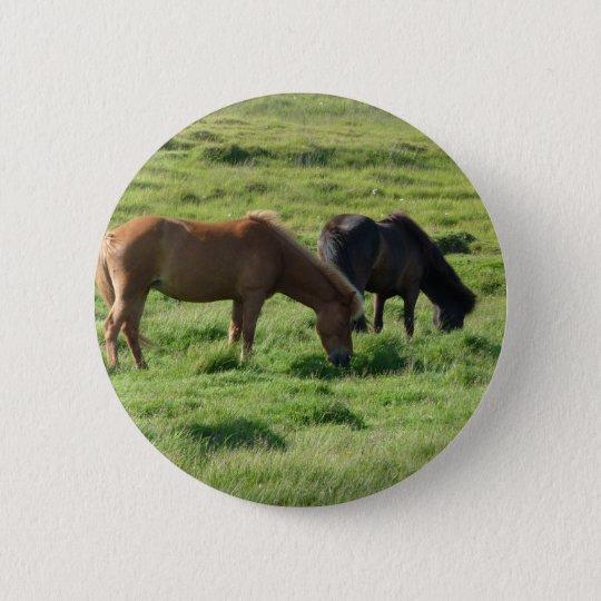 Islandpferde Runder Button 5,1 Cm