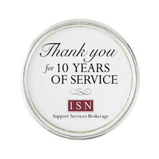Isn-Beistandsservice-Maklergeschäft 10 Dienstjahre Anstecknadel