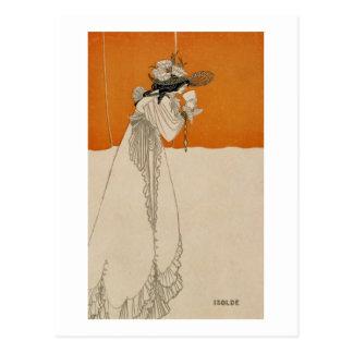 "Isolde, Illustration ""vom Studio"", 1895 (Lithium Postkarte"