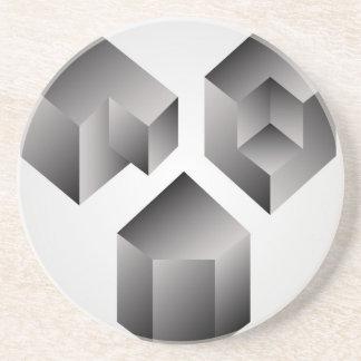 Isometrische Gegenstände Sandstein Untersetzer