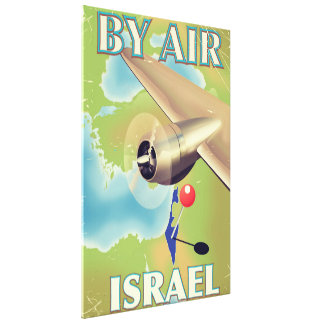 Israel durch Vintages Reiseplakat der Luft Leinwanddruck