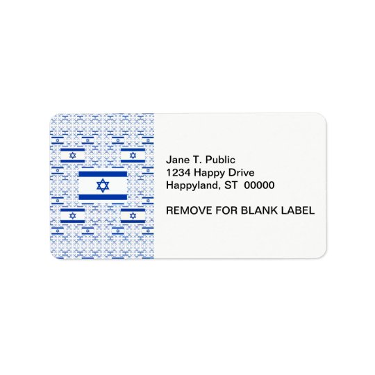 Israel-Flagge - Davidsstern - In den Schichten Adressetikett