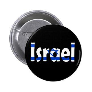 Israel-Flagge Runder Button 5,1 Cm