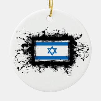 Israel-Flagge Rundes Keramik Ornament
