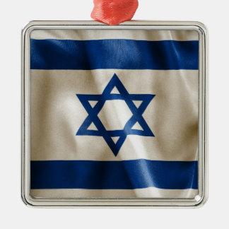 Israel-Flagge Silbernes Ornament