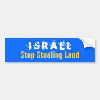 ISRAEL-Halt, der Land stiehlt Autoaufkleber