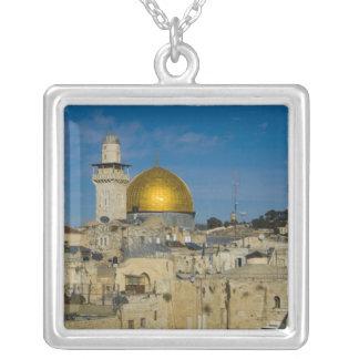 Israel, Jerusalem, Haube des Felsens Versilberte Kette