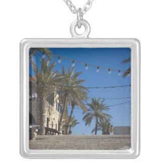 Israel, Tel Aviv, Jaffa, Treppe, altes Jaffa Versilberte Kette