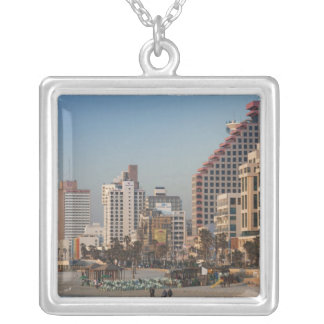Israel, Tel Aviv, strandnah, Hotels, Dämmerung Versilberte Kette