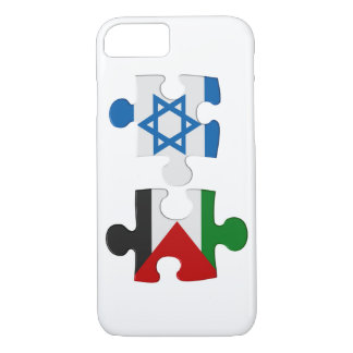 Israel- und Palästina-Konflikt-Flaggen-Puzzlespiel iPhone 8/7 Hülle