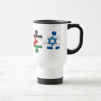Israel- und Palästina-Konflikt-Flaggen-Puzzlespiel Reisebecher