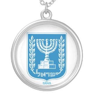 Israel-Wappen-Halskette Versilberte Kette