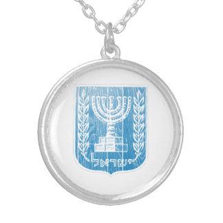 Israel-Wappen Versilberte Kette
