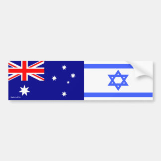 Israelisch u. Australier kennzeichnet Autoaufkleber