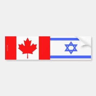 Israelisch u. Kanadier kennzeichnet Autoaufkleber