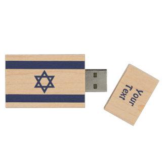 Israelische Flagge Holz USB Stick
