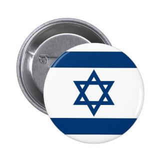 Israelische Flagge Runder Button 5,1 Cm