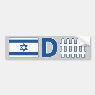 Israelische Verteidigung Autoaufkleber