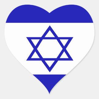 Israelischer Flaggen-Aufkleber Herz-Aufkleber