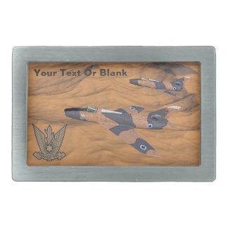 Israelisches SuperMystères über der Wüste Rechteckige Gürtelschnallen