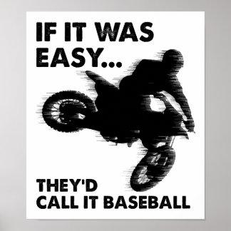 Ist Baseball-lustiges Plakat einfach