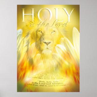 IST DER LORD - christliches Kunstplakat HEILIG Poster