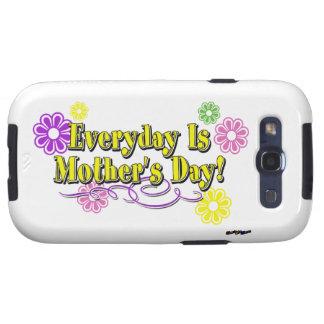 Ist der Tag der Mutter täglich! Blumen u. Art Hülle Fürs Samsung Galaxy S3