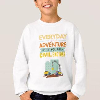 Ist ein lustiger Abenteuer-ziviler Ingenieur Sweatshirt