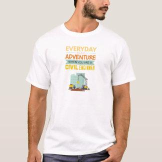 Ist ein lustiger Abenteuer-ziviler Ingenieur T-Shirt