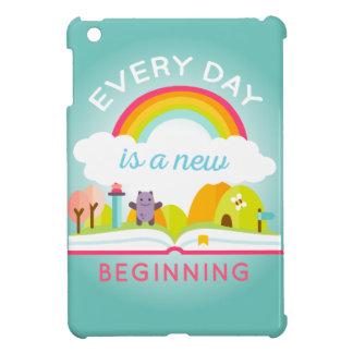 Ist ein niedlicher Regenbogen des neuen Anfanges iPad Mini Hülle