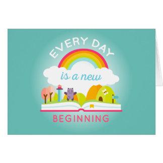 Ist ein niedlicher Regenbogen des neuen Anfanges Karte