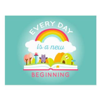 Ist ein niedlicher Regenbogen des neuen Anfanges Postkarte