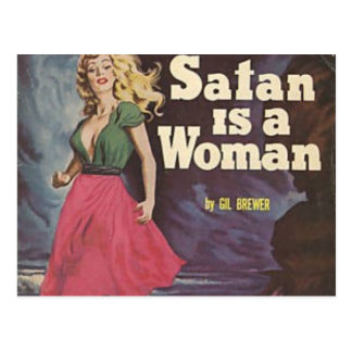 ist eine Frau satan! Postkarte