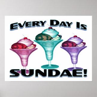 Ist Eiscremebecher-Eiscreme täglich Poster