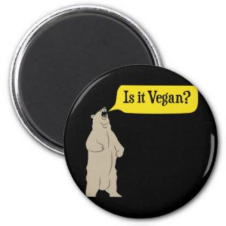 Ist es vegan? Hungriger Bär Runder Magnet 5,7 Cm