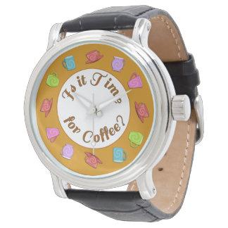 Ist es Zeit für Kaffee-Armbanduhr Armbanduhr