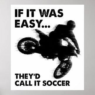 Ist Fußball-lustiges Plakat einfach