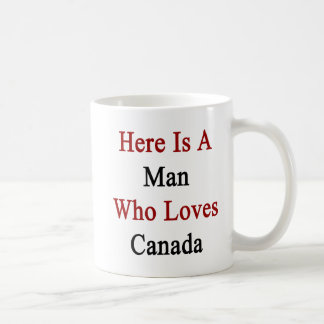 Ist hier ein Mann, der Lieben Kanada Kaffee Tassen