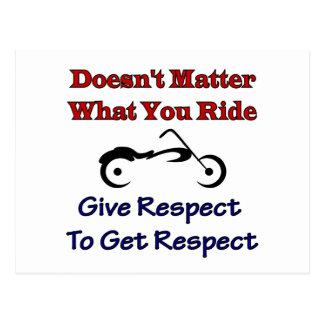 Ist nicht von Bedeutung, was Ihre Fahrt, Respekt Postkarte