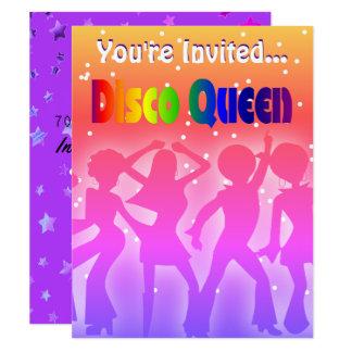 Ist Retro Party 70er der Regenbogen-Disco-Königin Karte