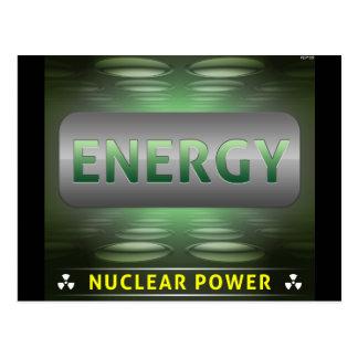 Ist saubere Energie nuklear Postkarte