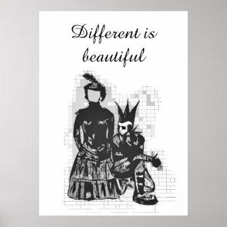 Ist schöner Goth Frauen- u. Punk-Typ Poster