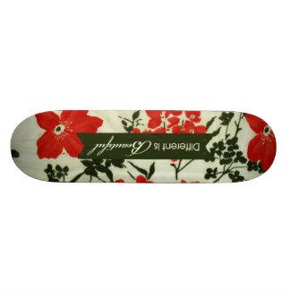 Ist schönes Vintages Blumen unterschiedlich Skateboardbrett