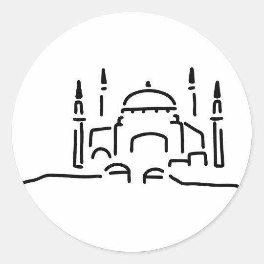 istanbul hagia sophia moschee runder aufkleber