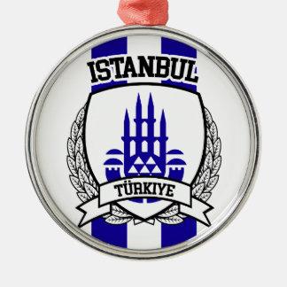 Istanbul Silbernes Ornament