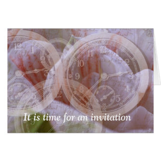 It is time for on invitation card