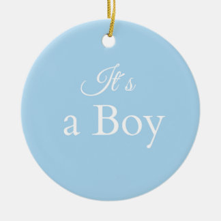 it´s ein Junge Rundes Keramik Ornament