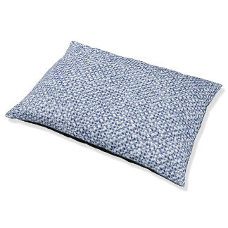 Itajime Shibori blaues Karo-Textilgeometrische Haustierbett