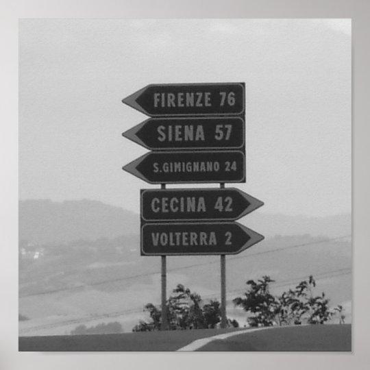 Italia - Toskana Poster