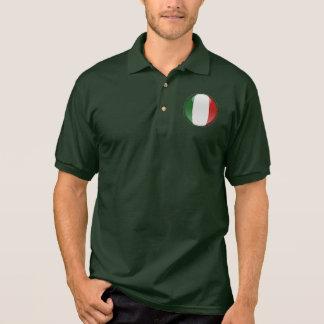 Italien-Blasen-Flagge Polo Shirt